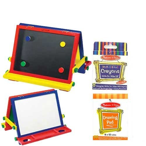 Melissa-Doug-Table-Top-Easel-with-Easel-Pad-and-Crayons