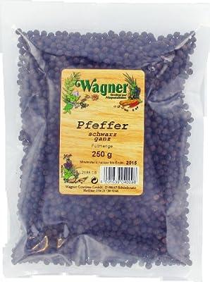 Wagner Gewürze Pfeffer schwarz ganz, 1er Pack (1 x 250 g) von Wagner Gewürze bei Gewürze Shop