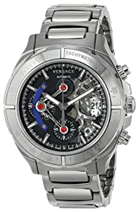 Versace Men's VK8010013 DV ONE Skeleton Chrono Analog Display Automatic Self Wind Silver Watch