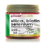 Power Health 250mg Silica, Biotin and Selenium Capsules - Pack of 30 Capsules by Powerhealth