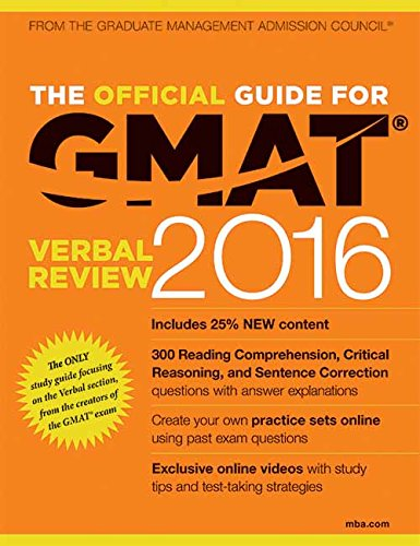 The Official Guide for GMAT Verbal Review 2016 with Online Question Bank and Exclusive Video (Old Edition)