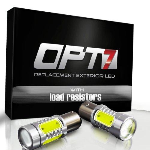 Opt7® 1156 Ba15S Nova Plasma Led - Reverse Backup Light Bulbs W/ Load Resistors - White