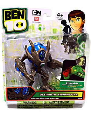 Picture of Bandai Ben 10 Alien 4 Inch Action Figure Ultimate Swampfire Includes Minifigure (B005804102) (Ben 10 Action Figures)