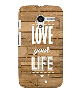 EPICCASE love your life Mobile Back Case Cover For Moto X (Designer Case)