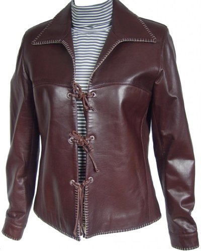 Paccilo FREE tailoring Women 4008 PETITE Size Lamb Real Leather Jacket