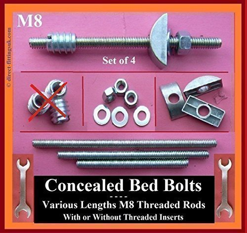 Deals For Concealed M8 Bed Bolts Half Moon Crescent Washers