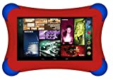 """Visual Land Prestige ELITE 7Q FamTab - 7"""" Quad Core 16GB Family Tablet, Android KitKat4.4 OS, Google Play and Safety Bumper (Red) video review"""
