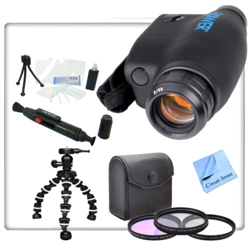 Thunder Eye Night Vision Monocular With Pro Package. Includes Gripster Tripod, 3 Piece Professional Filter Kit (Uv,Cpl,Fld) Monocular Cleaning Pen, Starters Kit & Cs Microfiber Cleaning Cloth