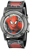 Marvel Spider-Man Kids' SPD3500SR Digital Display Analog Quartz Watch, Black