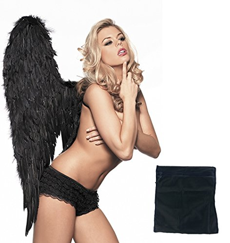 Be Wicked Women's Large Angel Wings with Ruffled Shorts