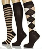 Noble Mount Womens Knee Hi Socks (3 Pack)