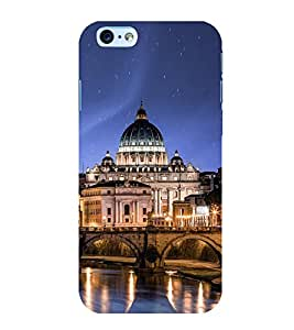 Fuson Premium Back Case Cover Mahal With yellow Background Degined For Apple iPhone 6S