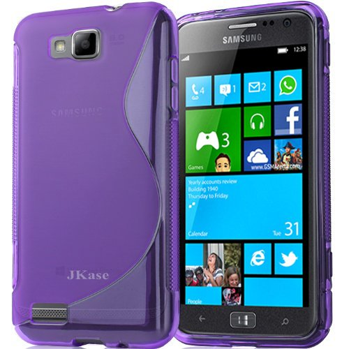 Jkase Premium Quality Samsung I8750 Ativ S Streamline Tpu Case Cover - Retail Packaging - Purple