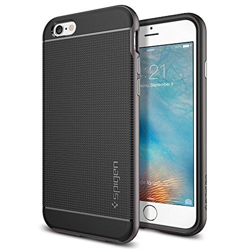 Spigen iPhone6s ケース / iPhone6 ケース, ネオ・ハイブリッド  [ 米軍MIL規格取得 二重構造 スリム フィット ] アイフォン6s / 6 用 カバー (ガンメタル SGP11618)
