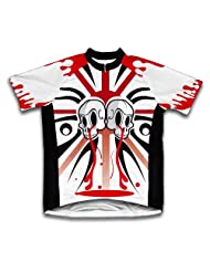 Red Kill Drip Short Sleeve Cycling Jersey for Women