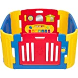 Little Playzone Playpen w/ Electronic Lights and Sounds Play Yard, 8 piece