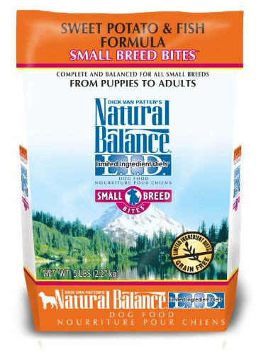 Natural Balance Limited Ingredient Diets Sweet Potato and Fish Small Breed Bites Formula for Dogs, 5-Pound Bag