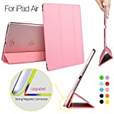 IPad Air Case, ESR® Yippee Colour Series Smart Cover Transparent Back Cover [Ultra Slim] [Light Weight] [Scratch-Resistant Lining] [Perfect Fit] [Auto Wake Up/Sleep Function] Protective Case for iPad Air/ iPad 5 (Sweet Pink)