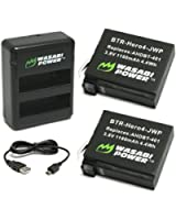 Wasabi Power Battery (2-Pack) and Dual Charger for GoPro HERO4 and GoPro AHDBT-401, AHBBP-401