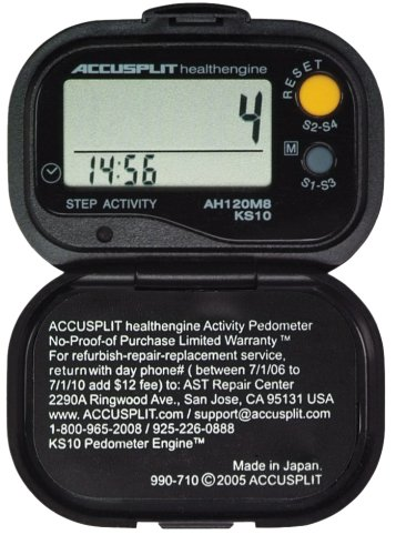 F81Q ACCUSPLIT Health Engine AH120M9 Pedometer/Step Counter