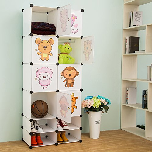 Great Features Of C&AHOME - 12 Cubes Clothes Closet, Wardrobe, Cartoon