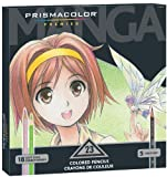 Prismacolor Premier Manga Colored Pencil Set, 23 Colored Manga Pencils (1774800)