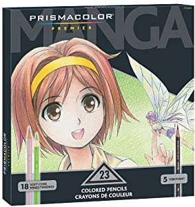Prismacolor Premier Soft Core Colored Pencil,  Set of 23 Assorted Manga Colors  (1774800)