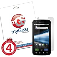 myGear Products DiamondDust Screen Protector Film for Motorola Atrix - (4 Pack) Diamond