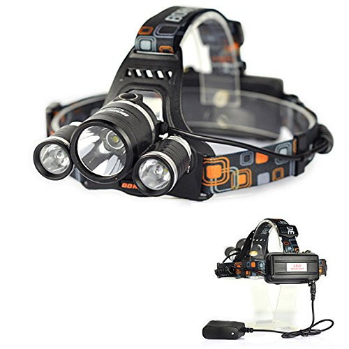 5000 Lumen 3Xcree Xm-L T6 Led 18650 Flashlight Headlight Headlamp