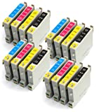 Epson Stylus C68 Set Of 16 Compatible Ink Cartridges Parasol Series