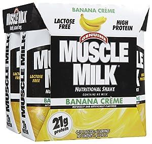 Muscle Milk Protein Shake RTDs, Banana Creme, 11 oz, 4 pk