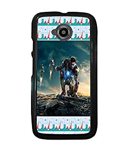 PRINTVISA Big man Premium Metallic Insert Back Case Cover for Motorola Moto E2 - D5788