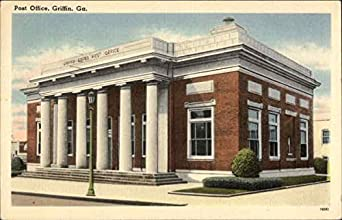 post office griffin georgia original vintage postcard at