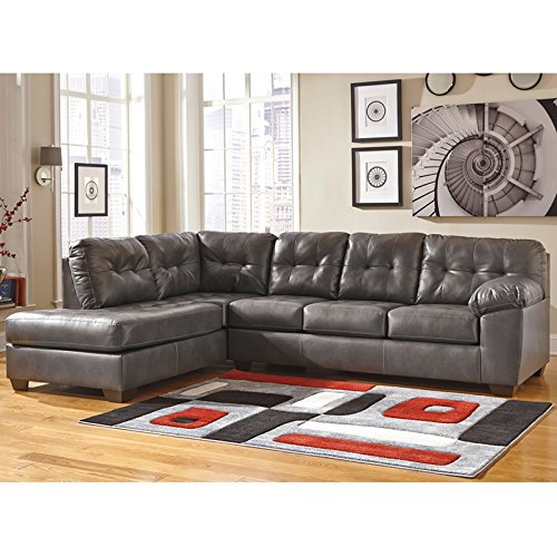 Flash Furniture Signature Design by Ashley Alliston Sectional with Left Side Facing Chaise in Gray DuraBlend