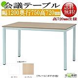 組立簡単! 会議/ミーティングテーブル NAナチュラル色 GD-550NA 幅1200奥行750高720mm