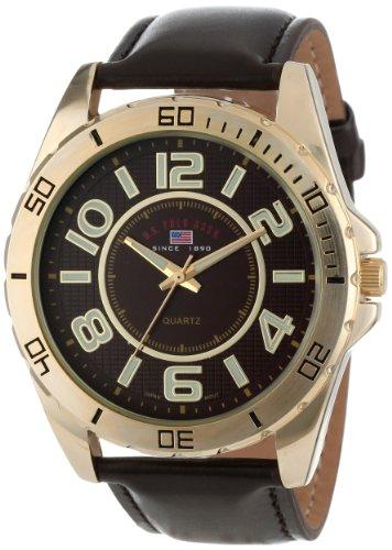 U.S. Polo Assn. Classic Men'S Us5160 Brown Dial Brown Strap Watch