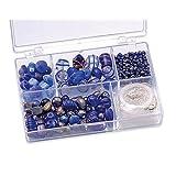 "KnorrPrandell 6049350 Sortimentsbox Glasperlen, 11.5 x 7.5 x 2.5 cm, blauvon ""Knorr Prandell"""
