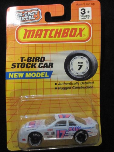 T-Bird Stock Car Matchbox Collectible Car #7 - 1