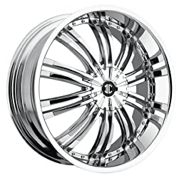 18 inch 18×7.5 2Crave No. 1 Chrome wheel rim; 5×4.5 5×114.3 bolt pattern with a +40 offset. Part Number: N01-1875LL40FC