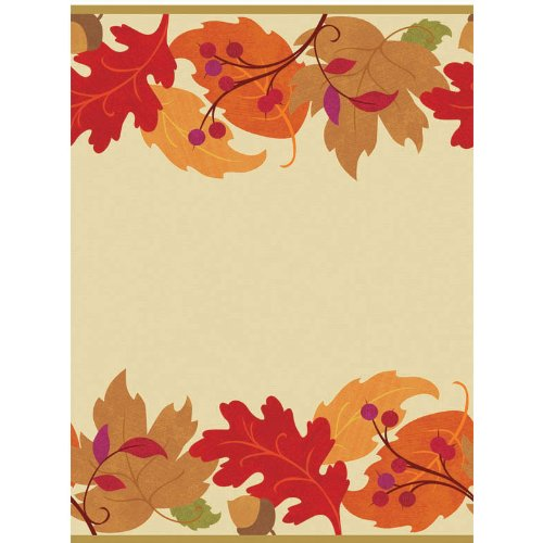 Festive Fall Plastic Table Cover 54 X 102 Inches