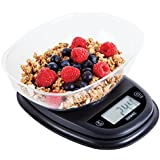 Duronic KS2000 Oval Digital Display 5KG Kitchen Scales with Clear Mixing Bowl and 2 Years FREE Warranty
