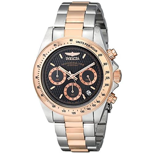 Invicta Speedway Men's Quartz Watch with Black Dial Chronograph Display and Multicolour Stainless Steel Bracelet...