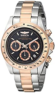 Invicta Speedway Men's Quartz Watch with Black Dial Chronograph Display and Multicolour Stainless Steel Bracelet 6932
