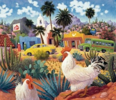 Cheap Sunsout Gallos Blancos – 550pc Jigsaw Puzzle by Sunsout (B0020YLB8Y)