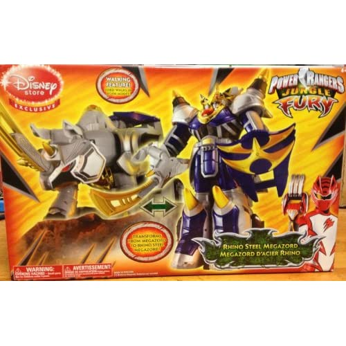 Power Rangers Jungle Fury Deluxe Rhino Steel Megazord (Disney Store