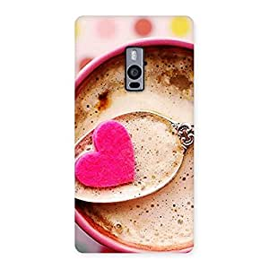 Impressive Pink Love Coffee Multicolor Back Case Cover for OnePlus Two