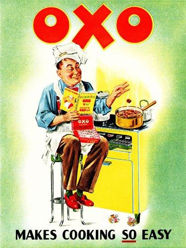 Advert Food Beef Stock Cube Cook Chef Cooker Oven Uk Art Print Poster Bb6938