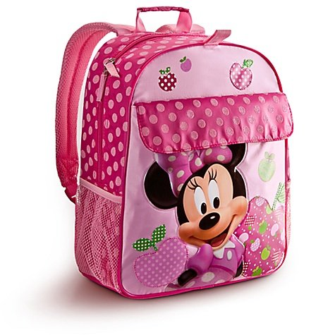 Disney Store Pink Minnie Mouse Backpack with Polka Dots: Mickey Mouse Clubhouse Style