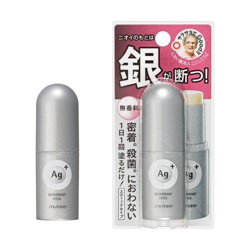 資生堂 エージープラス Ag+ デオドラント スティック 20g 無香料