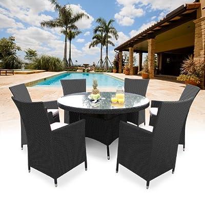 Sicily Round 6 Seat Rattan Dining Set OGD002